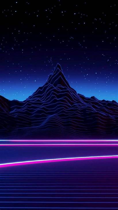 Vaporwave Aesthetic Retro Wallpapers Backgrounds Phone Mountain