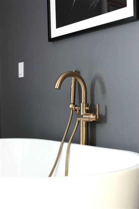 Delta Fixtures Bathroom by Delta Chagne Bronze Faucets And Fixtures In The Master
