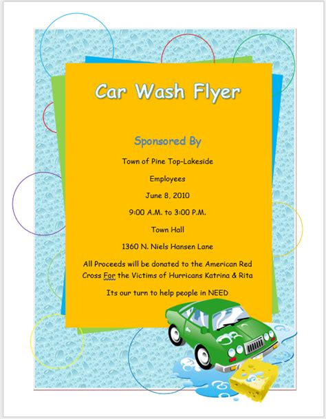 Just use it wisely to increase your sales dramatically. Car Wash Flyer Template - Word Templates for Free Download