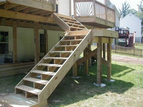 Decking, Deck Stairs And Backyard