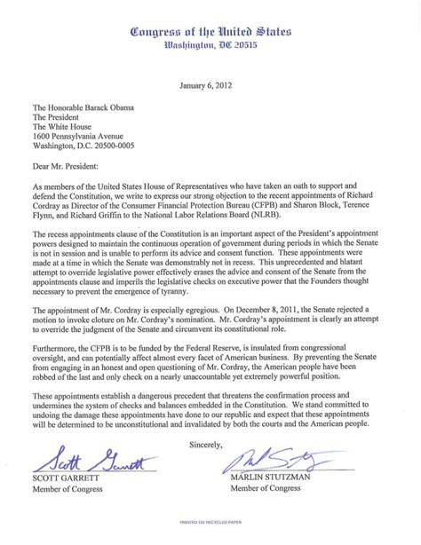 letter to the president u s congressman michael c burgess 26th district of
