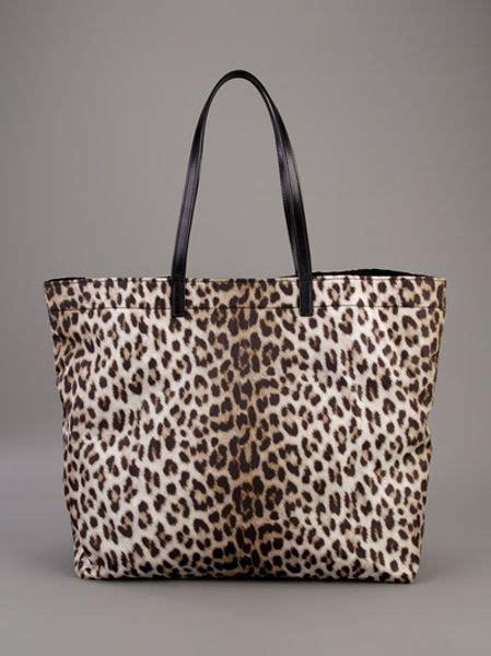 lanvin leopard print tote bag  animal leopard lyst