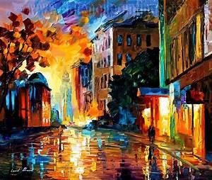Modern impressionism palette knife oil painting kp083 ...