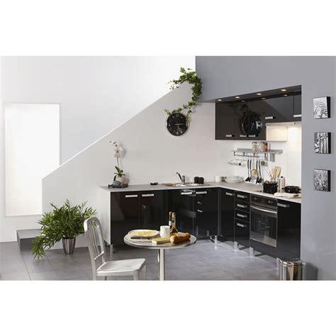 meuble haut cuisine noir meuble haut 2 portes 80cm quot glossy quot noir