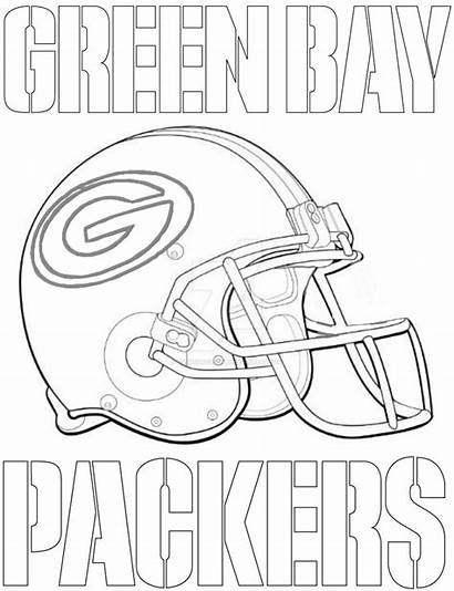 Packers Coloring Bay Pages Printable Helmet Football