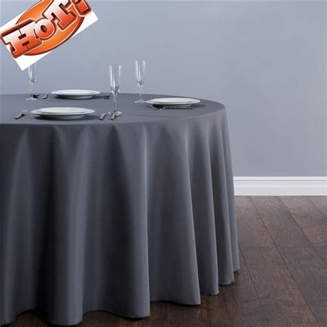 10pcs Grey Round Christmas Tablecloths In 70''in