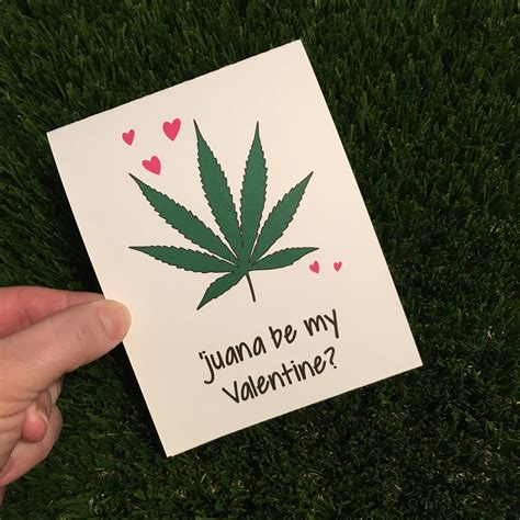 Funny Weed Valentine Card / Weed Valentine's Day Card / | Etsy