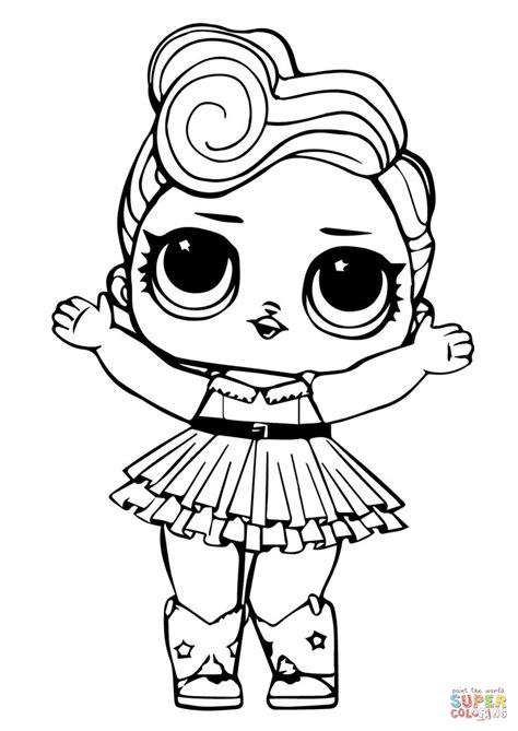 lol doll luxe coloring page  printable coloring