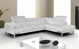 nicoletti leather sectional sofa by jm in white grey or With nicoletti leather sectional sofa