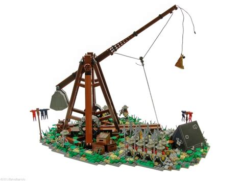 siege lego how to build a mini lego trebuchet woodworking projects