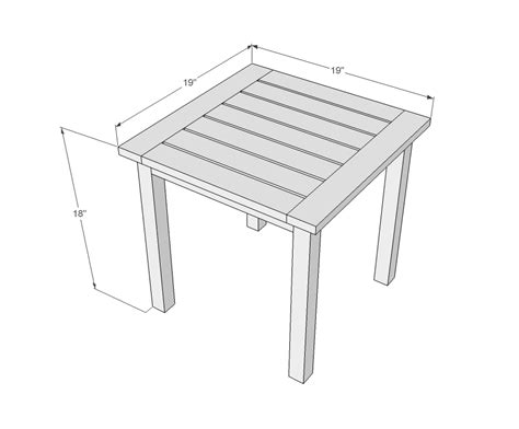 free simple end table plans simple end table plans free woodguides