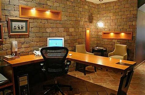 brick wall office 15 cool home office design with exposed brick walls rilane