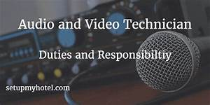Housekeeping Manager Job Description 21 Duties And Responsibilities Of Hotel Audio Video