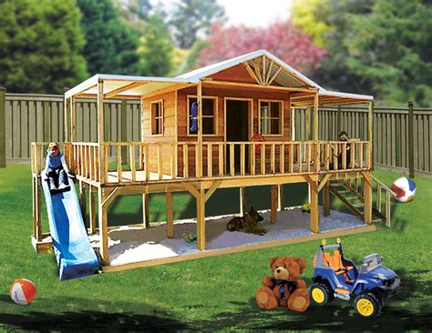 Big Backyard Playhouse by I This Playhouse With A Slide And Sandbox Underneath