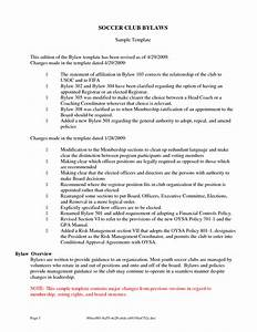 best photos of one page corporate bylaws template non With bylaws for nonprofit organizations template
