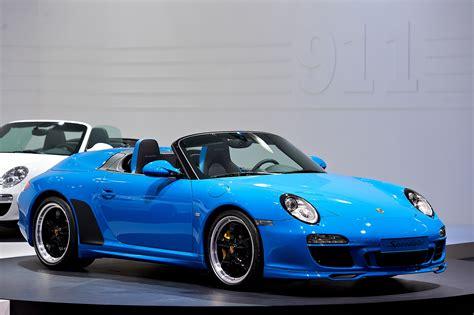 blue porsche file 2010 blue porsche 911 speedster 997 mondial paris