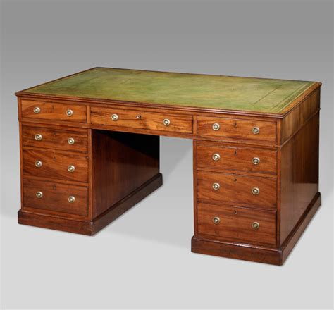 partners desk for sale antique partners desk large antique pedestal desk