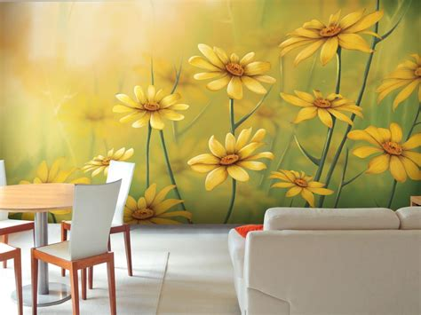 Living Room With Yellow Walls by Custom Wallpaper Amp Modern Wall Murals For Home Office Kids