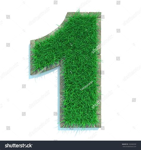 and numbers letter a made of grass stock beautiful numbers made of grass and surrounded with