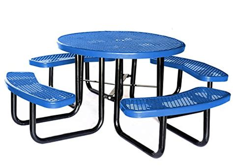 lifeyard 46 quot expanded metal mesh picnic table with benches