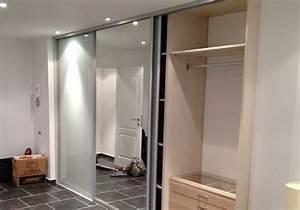 Porte Coulissante Miroir : fourniture et pose de portes coulissantes pour dressing a ~ Carolinahurricanesstore.com Idées de Décoration