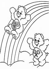 Rainbow Coloring Pages Care Trout Bears Sliding Bear Template Getcolorings Printable Colori sketch template