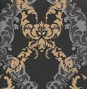 Tapete Barock Schwarz : ornamentals barock tapete ornamente 48665 schwarz gold grau euro pro m ebay ~ Yasmunasinghe.com Haus und Dekorationen