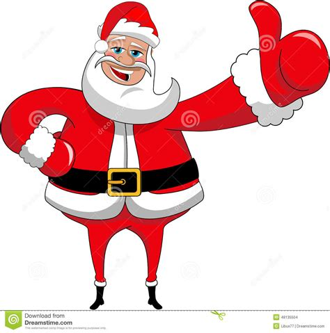 santa claus happy big thumb up xmas isolated stock vector