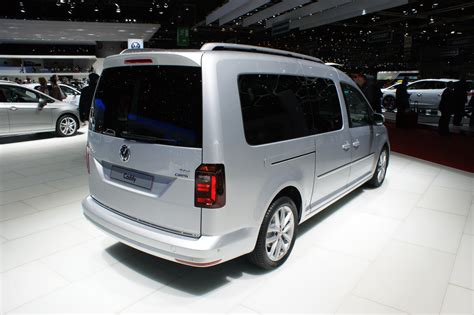 vw caddy maxi shows  longer body  geneva carscoops