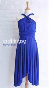 wrap bridesmaid dress bridesmaid dress infinity dress royal blue knee length wrap convertible dress wedding dress