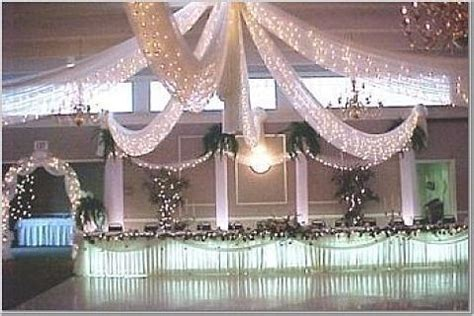 white lights and tulle decorations ceiling draping pinterest receptions photographs and dance