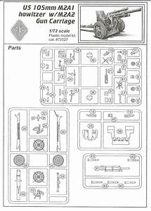 Ace  105mm Us Field Howitzer M2a1  Kit No  72527