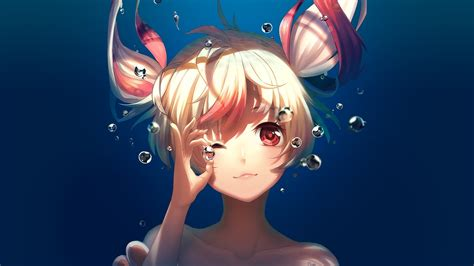 Anime Characters Wallpaper - original characters anime underwater