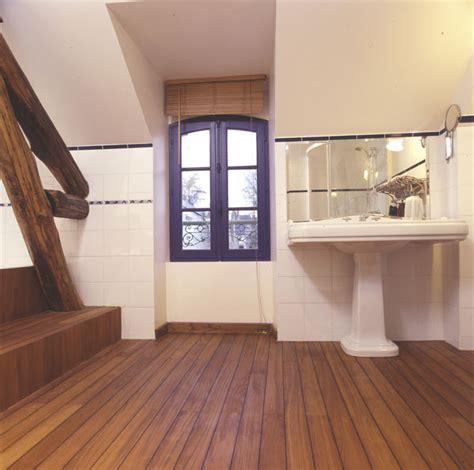 plancher teck salle de bain parquet salle de bain parquet emoisetbois