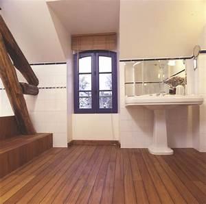 parquet salle de bain parquet emoisetbois With quel parquet pour salle de bain