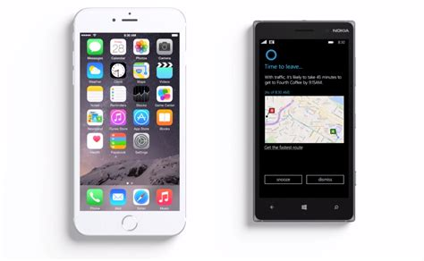 siri on iphone 6 new microsoft ad says iphone 6 plus only makes siri bigger