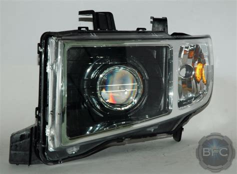ridgeline headlights honda projector 2009 2006 hid headlight d2s retrofit mini custom conversion blackflamecustoms packages shroud
