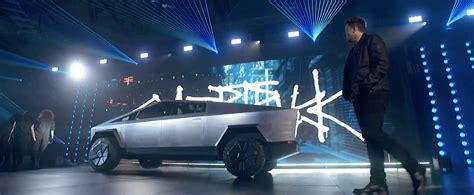 tesla reveals cybertruck   passenger pickup featuring