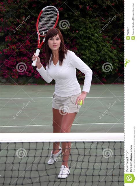 pretty tennis player royalty  stock photography image