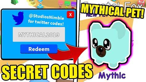 secret mythical pets codes  magnet simulator update
