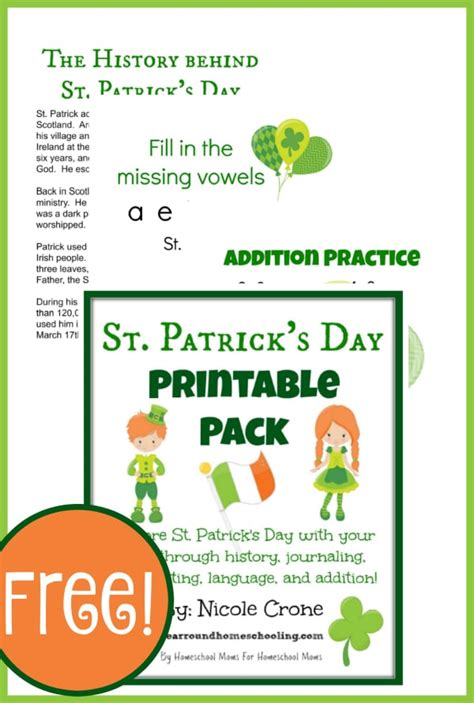 st patricks day learning pack year