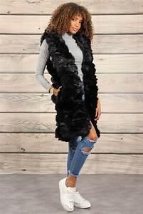 Manteau Fourrure Sans Manche : veste sans manche en fourrure ~ Dallasstarsshop.com Idées de Décoration