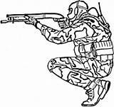 Coloring Military Gun Printable Getcolorings sketch template