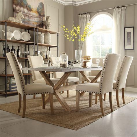 homesullivan upton  piece weathered light oak dining set