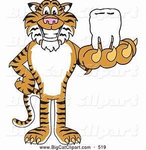 Big Cat Cartoon Vector Clipart of a Happy Tiger Character ...