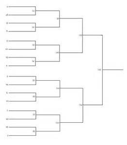 Blank 16 Team Tournament Brackets Basketball