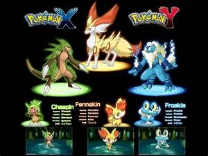 Pokemon X and Y starters Evolution - YouTube