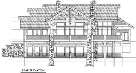 Mountain rustic House Plan 3 Bedrooms 3 Bath 3236 Sq