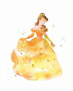 Belle Print Belle Watercolor Art Beauty and the Beast