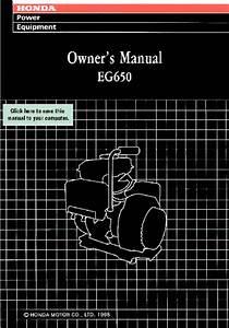 Eg650 Manuals